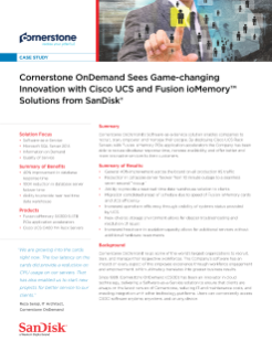 Cornerstone OnDemand Sees Game-changing Innovation with Cisco UCS and Fusion ioMemory Solutions from SanDisk